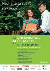 BRATISLAVA - Dni majstrov ÚĽUV 2015 @ Bratislava – pešia zóna Starého Mesta | Bratislava | Bratislavský kraj | Slovensko