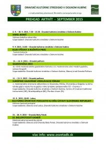 Program Oravského kultúrneho strediska v Dolnom Kubíne @ Orava | Dolný Kubín | Žilinský kraj | Slovensko