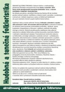 DOLNÝ KUBÍN - kurz Hudobná a tanečná folkloristika @ Oravské kultúrne stredisko, Bysterecká 1263/55, 026 01 Dolný Kubín | Dolný Kubín | Slovensko