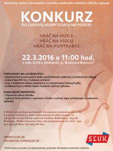 BRATISLAVA - Konkurz do ĽH SĽUK-u @ Sídlo SĽUK-u | Bratislava | Slovensko