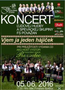 POVAŽSKÁ BYSTRICA -  Koncert ľudovej hudby a speváckej skupiny folklórneho súboru POVAŽAN pri príležitosti vydania CD. @ Kino Mier | Trenčiansky kraj | Slovensko