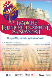 LEDNICA - Tradičné lednické dožinkové slávnosti @ amfiteáter pod hradom Lednica | Lednica | Trenčiansky kraj | Slovensko
