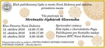 NOVÁ DUBNICA - Stretnutie čipkárok Slovenska @ Kino Panorex, Nová Dubnica | Nová Dubnica | Trenčiansky kraj | Slovensko