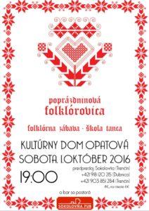 OPATOVÁ - Poprázdninová folklórovica @ Kultúrny dom Opatová | Trenčín | Trenčiansky kraj | Slovensko