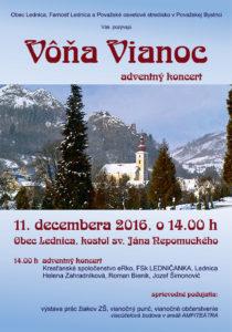 LEDNICA - Vôňa vianoc @ Obec Lednica, kostol sv. Jána Nepomuckého