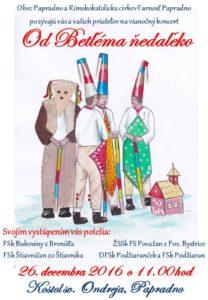 PAPRADNO - Od Betľéma ňedaľeko @ Kostol sv. Ondreja, Papradno | Papradno | Slovensko