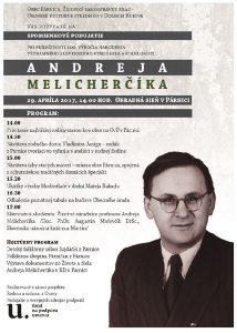 PÁRNICA - Spomienka na Andreja Melicherčíka @ Obradná sieň v Párnici   Párnica   Slovensko
