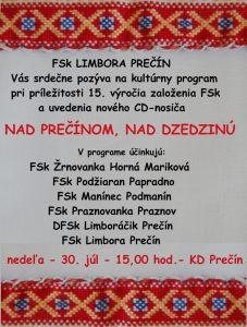 PREČÍN - Nad Prečínom, nad dzedzinú @ KD Prečín, Prečín | Prečín | Slovensko