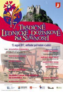 LEDNICA - 17. Tradičné lednické dožinkové slávnosti @ Lednica, Lednica | Lednica | Slovensko
