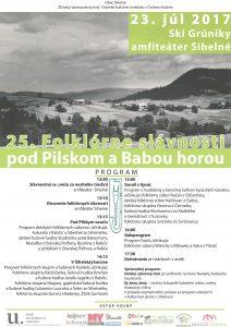 SIHELNÉ - 25. folklórne slávnosti pod Pilskom a Babou horou @ Ski Grúnik, Amfiteáter Sihelné | Sihelné | Slovensko