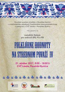 POVAŽSKÁ BYSTRICA - Folklórne hodnoty na Strednom Považí IV @ Považská Bystrica | Považská Bystrica | Trenčiansky kraj | Slovensko
