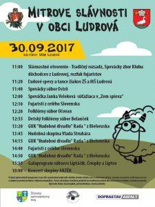LUDROVÁ - Mitrove slávnosti v obci Ludrová @ Ludrová pri Kultúrnom dome | Ludrová | Žilinský kraj | Slovensko