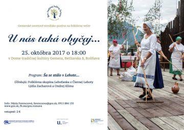 ROŽŇAVA - Unás taká obyčaj... @ Dom tradičnej kultúry Gemera v Rožňave | Košický kraj | Slovensko