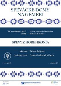 ROŽŇAVA - Spevácke domy na Gemeri @ Dom tradičnej kultúry Gemera Rožňava | Košický kraj | Slovensko