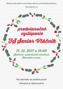 NEDOŽERY-BREZANY - Predvianočné vystúpenie @ Kultúrno-spoločenská miestnosť OcÚ, Nedožery-Brezany | Trenčiansky kraj | Slovensko