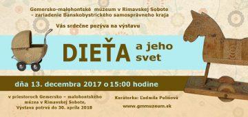 RIMAVSKÁ SOBOTA - Dieťa ajeho svet @ Gemersko-malohontské múzeum vRimavskej Sobote | Rimavská Sobota | Banskobystrický kraj | Slovensko