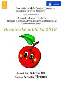 HRONOV (CZ) - Hronovské jablíčko 2018 @ Sál Josefa Čapka  Hronov | Hronov | Královohradecký kraj | Česko