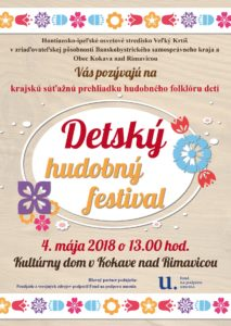 KOKAVA NAD RIMAVICOU - Detský hudobný festival @ Kokava nad Rimavicou - kultúrny dom | Banskobystrický kraj | Slovensko