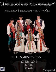 SABINOV - A bez ženoch še mi domu ňevracajce! @ Mestské kultúrne stredisko v Sabinove | Prešovský kraj | Slovensko