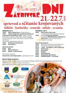 ZÁZRIVÁ - Zázrivské dni @ Zázrivá | Zázrivá | Žilinský kraj | Slovensko