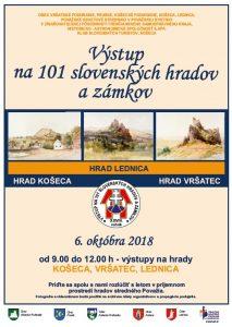 STREDNÉ POVAŽIE - Výstup na slovenské hrady a zámky @ Hrad Lednica, Hrad Košeca, Hrad Vršatec,