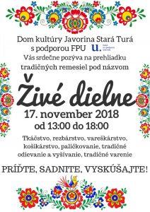 STARÁ TURÁ - Živé dielne @ DK Javorina, Stará Turá | Stará Turá | Slovensko